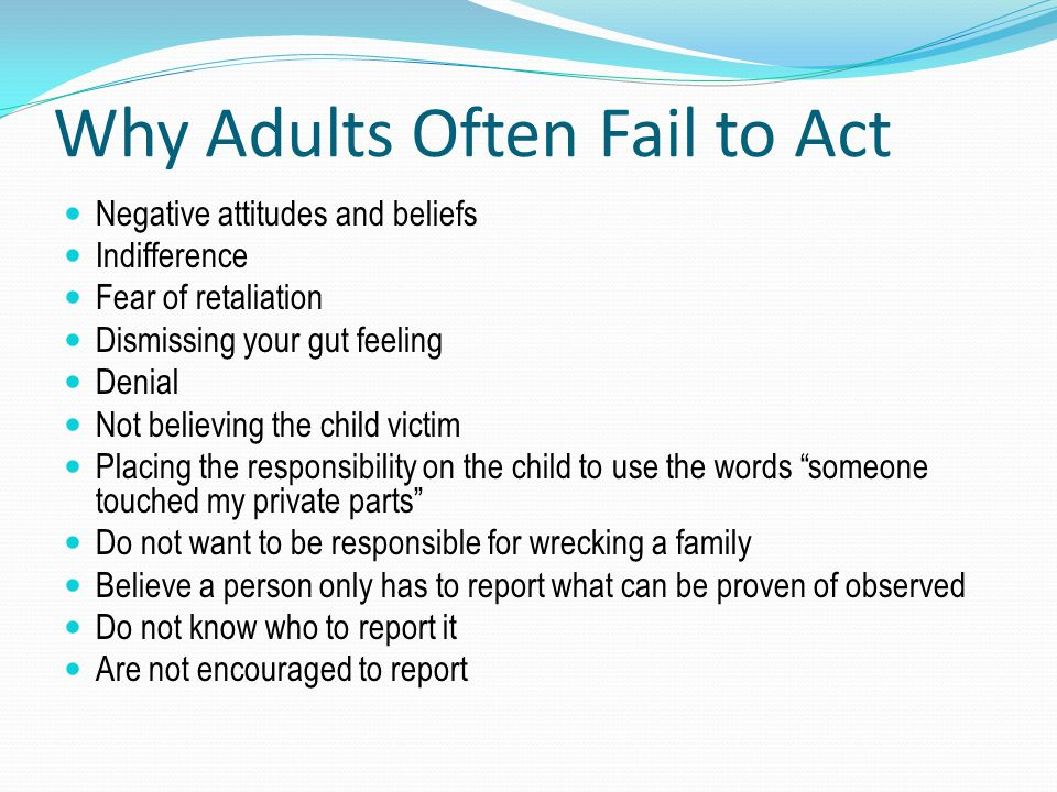Why Adults Often Fail to Act