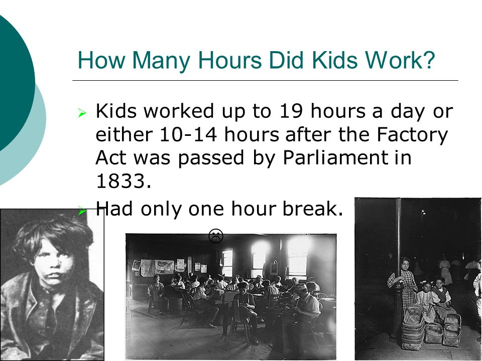 How Many Hours Did Kids Work