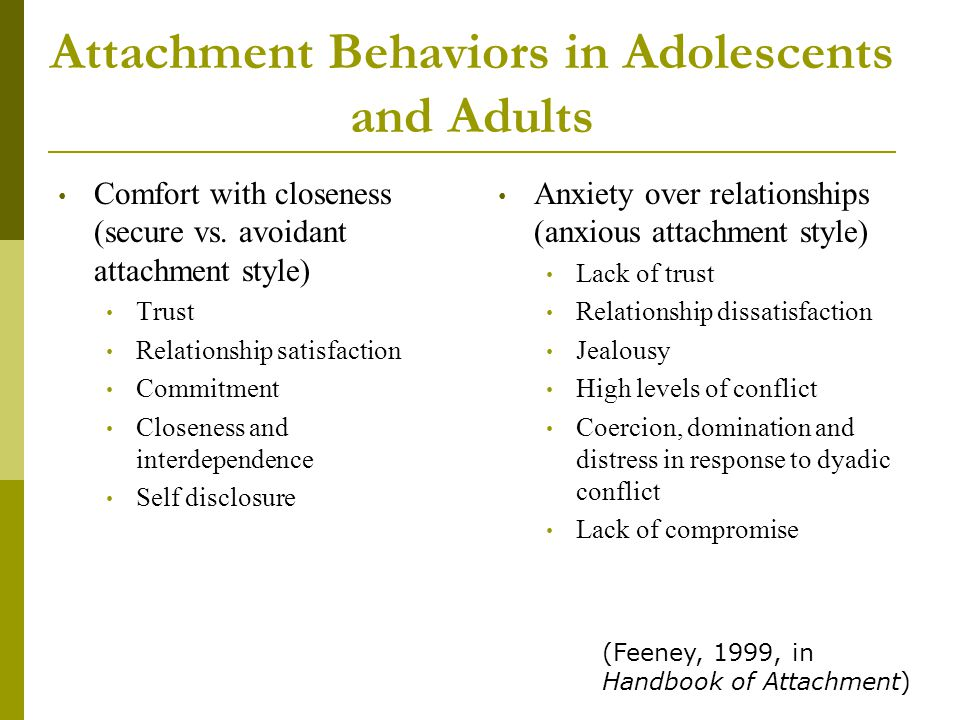 Over attachment in relationships