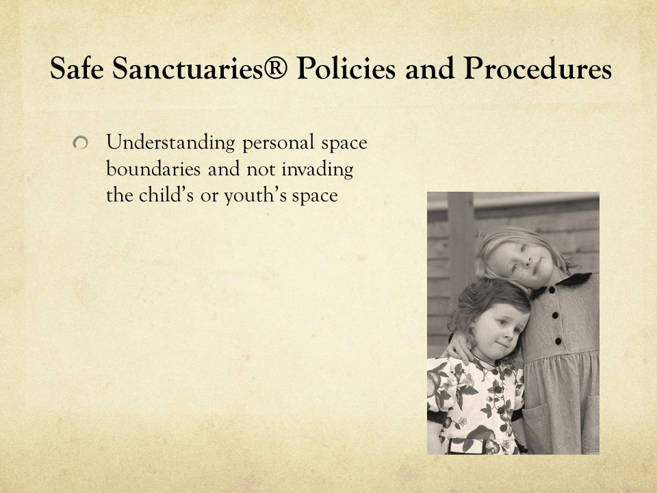 Safe Sanctuaries® Policies and Procedures