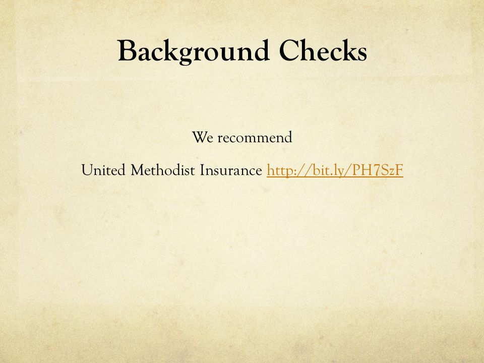 We recommend United Methodist Insurance http://bit.ly/PH7SzF