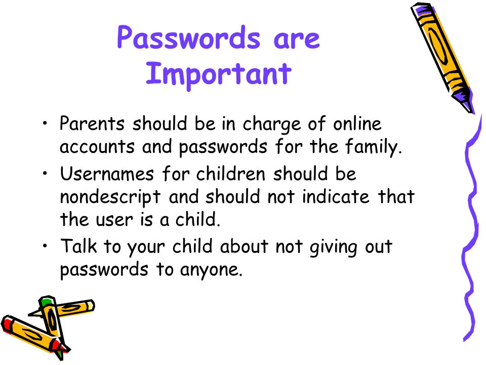 Passwords are Important