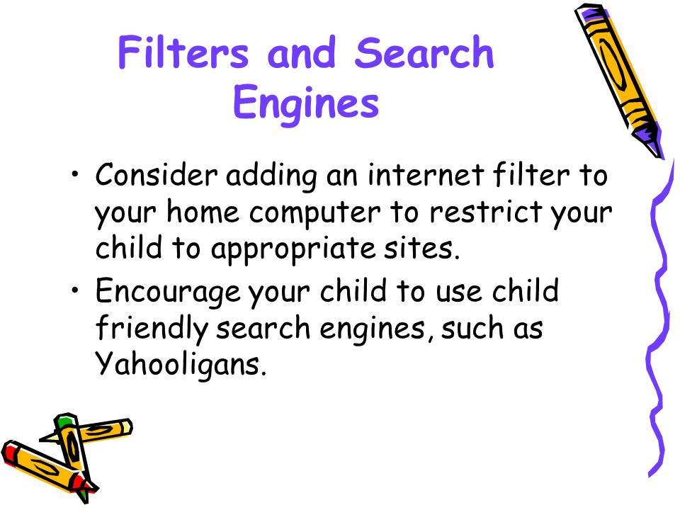 Filters and Search Engines