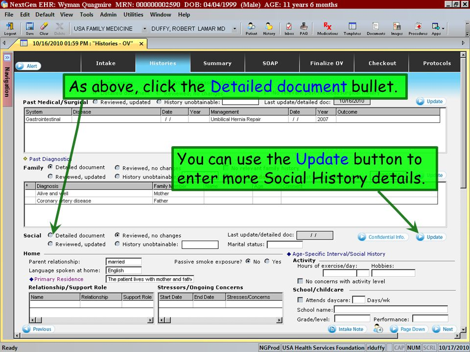 As above, click the Detailed document bullet.