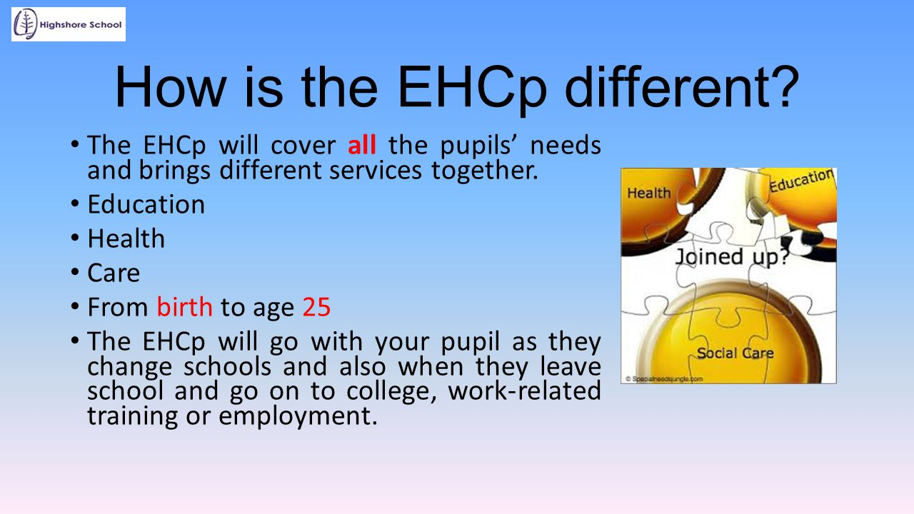 How is the EHCp different