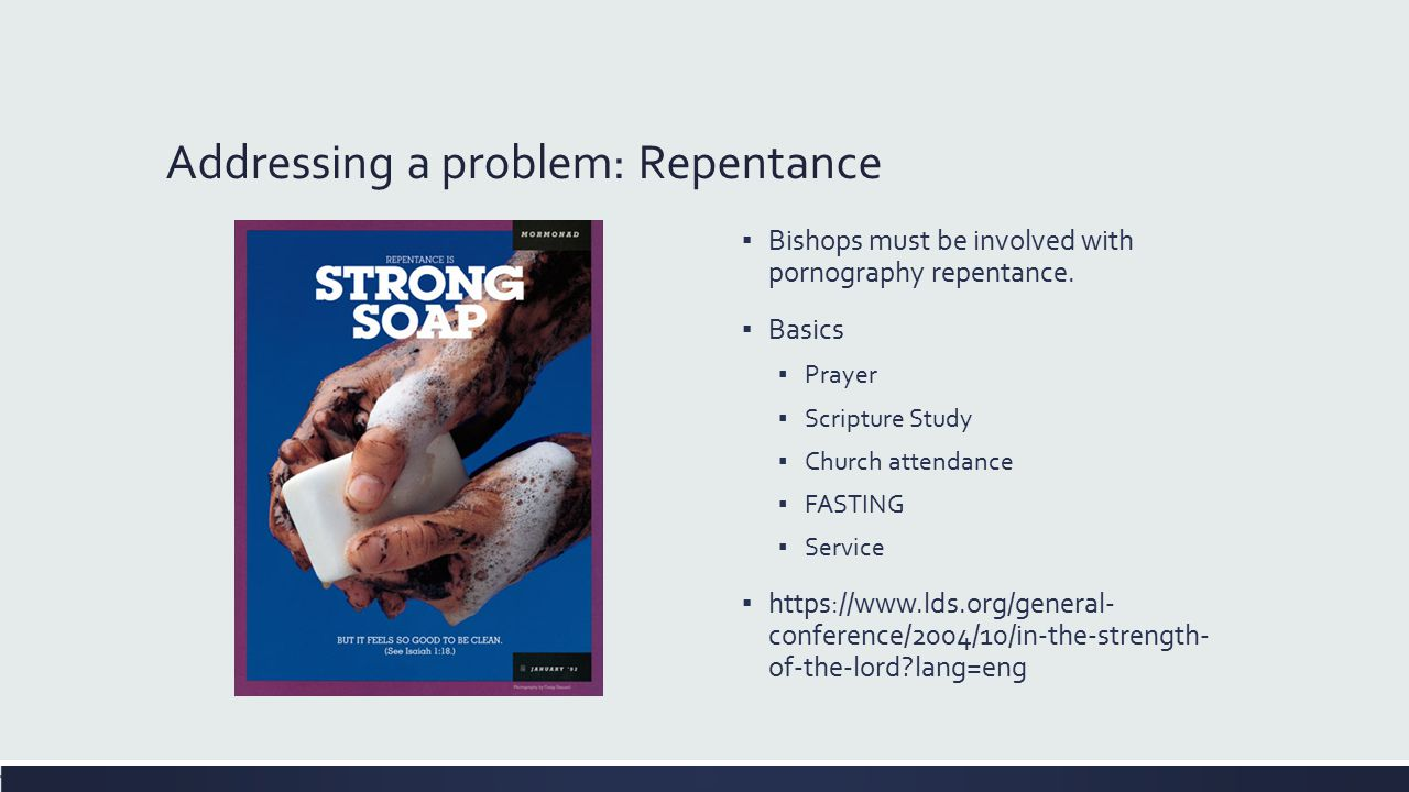 Addressing a problem: Repentance