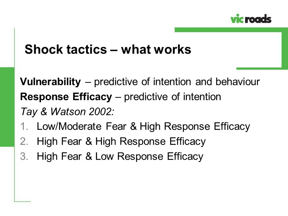 Shock tactics – what works