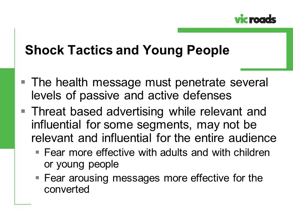 Shock Tactics and Young People