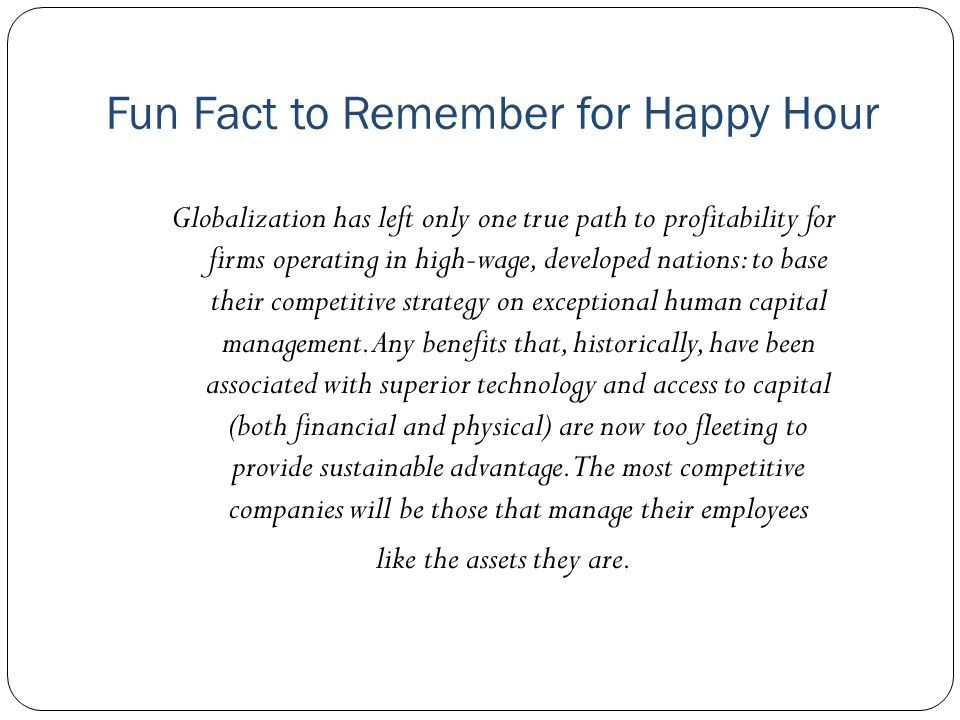 Fun Fact to Remember for Happy Hour