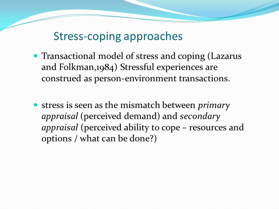 Stress-coping approaches