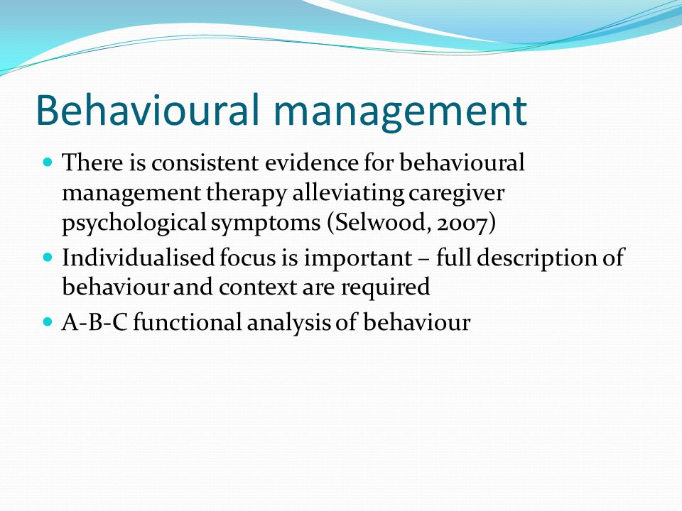 Behavioural management