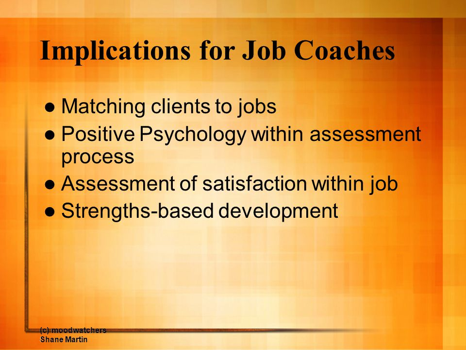 Implications for Job Coaches