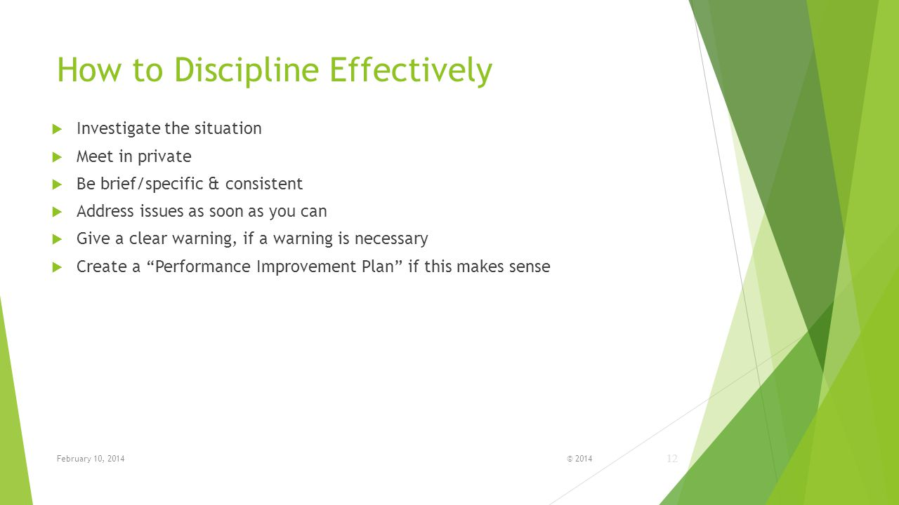 How to Discipline Effectively