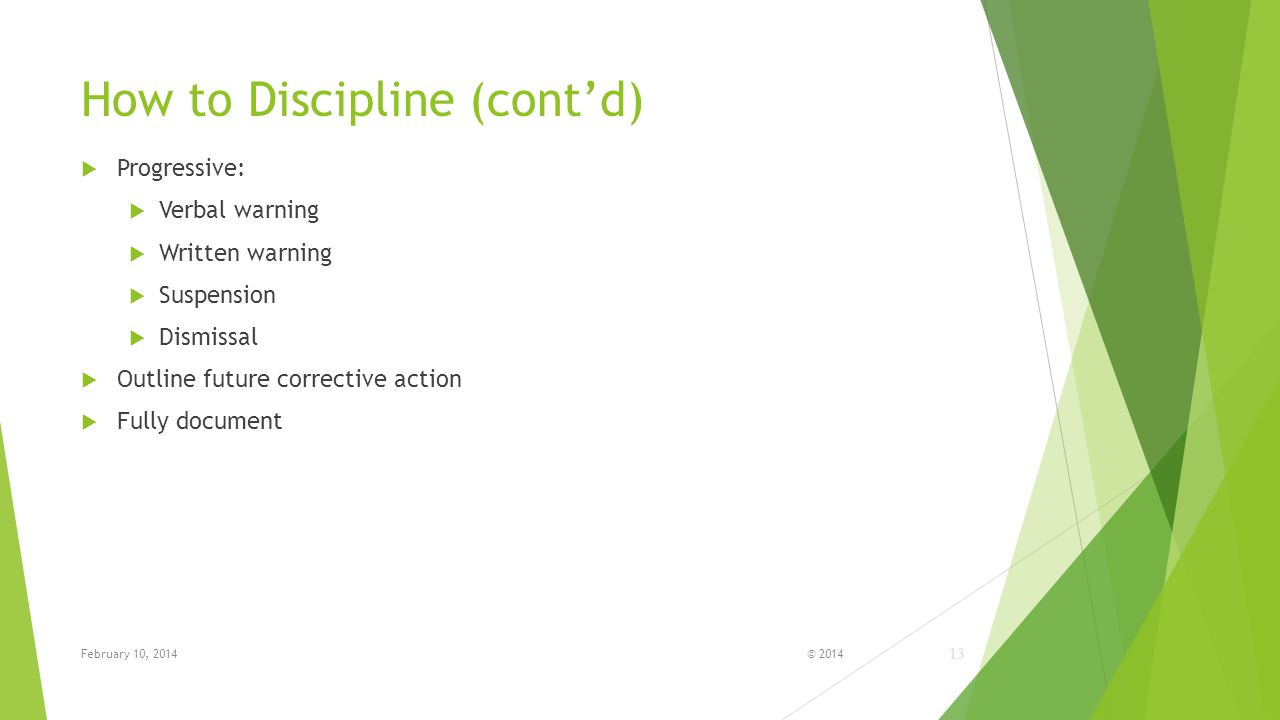 How to Discipline (cont'd)