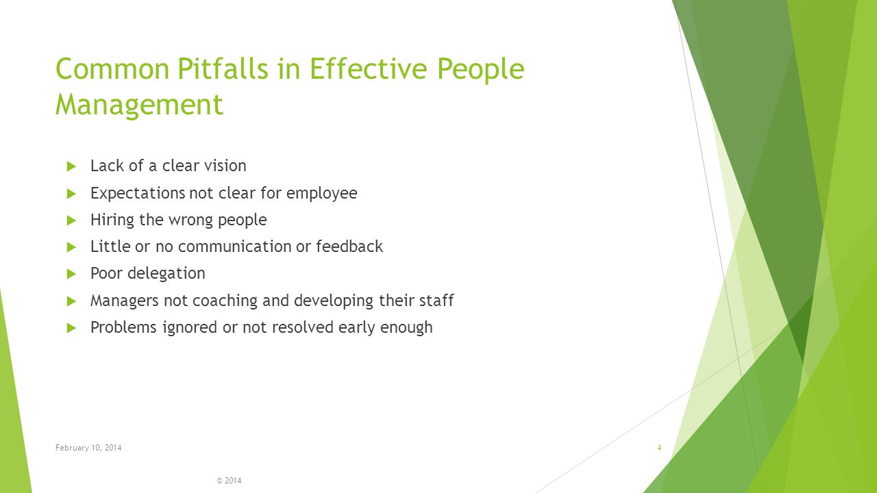 Common Pitfalls in Effective People Management