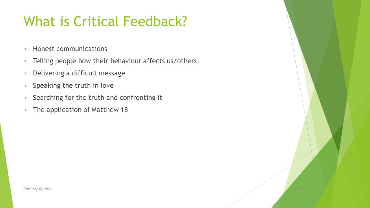What is Critical Feedback