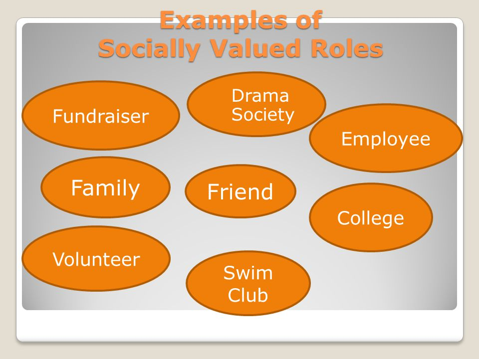 Examples of Socially Valued Roles