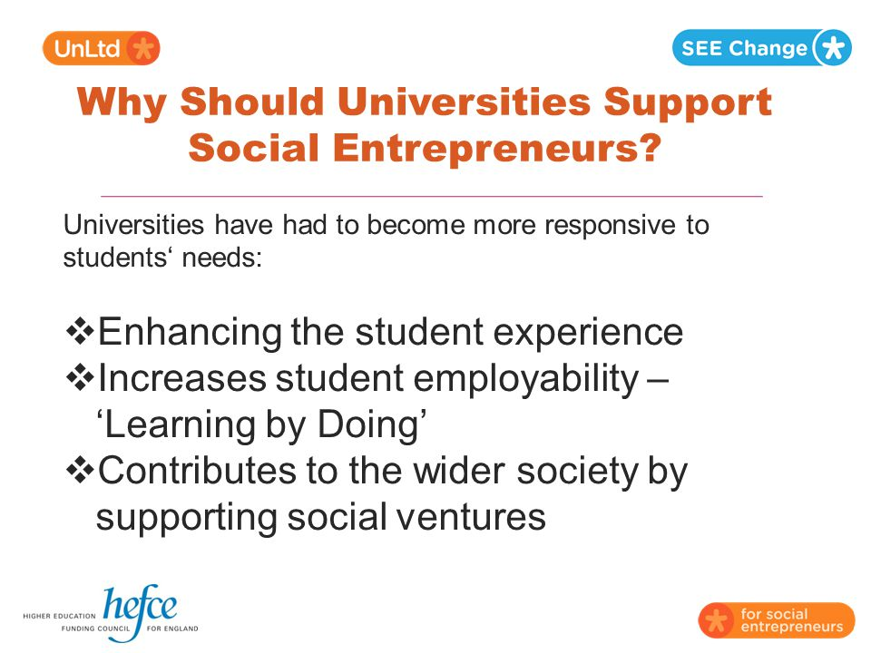 Why Should Universities Support Social Entrepreneurs