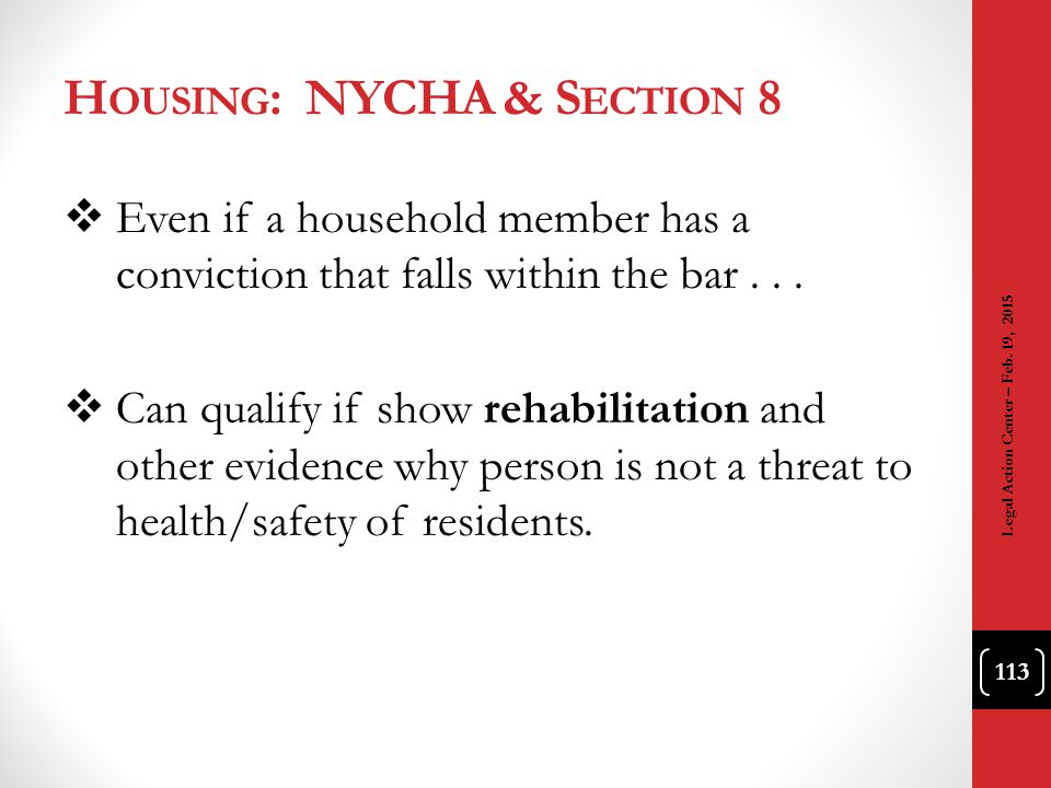 Housing: NYCHA & Section 8