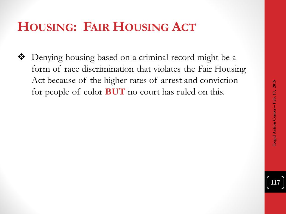 Housing: Fair Housing Act