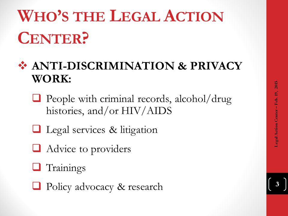 Who's the Legal Action Center