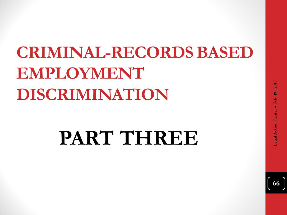 Criminal-Records Based Employment Discrimination