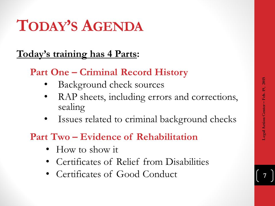 Today's Agenda Today's training has 4 Parts: