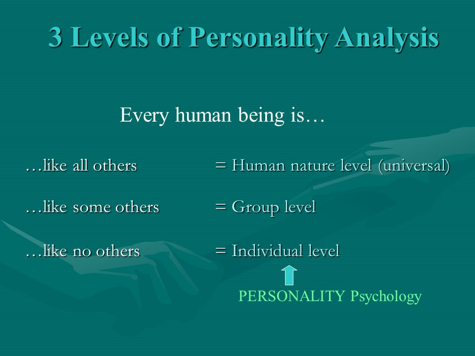 3 Levels of Personality Analysis