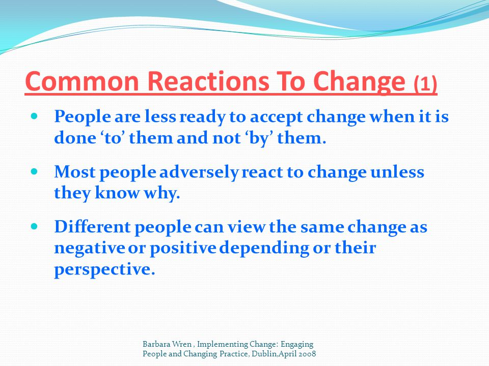 Common Reactions To Change (1)