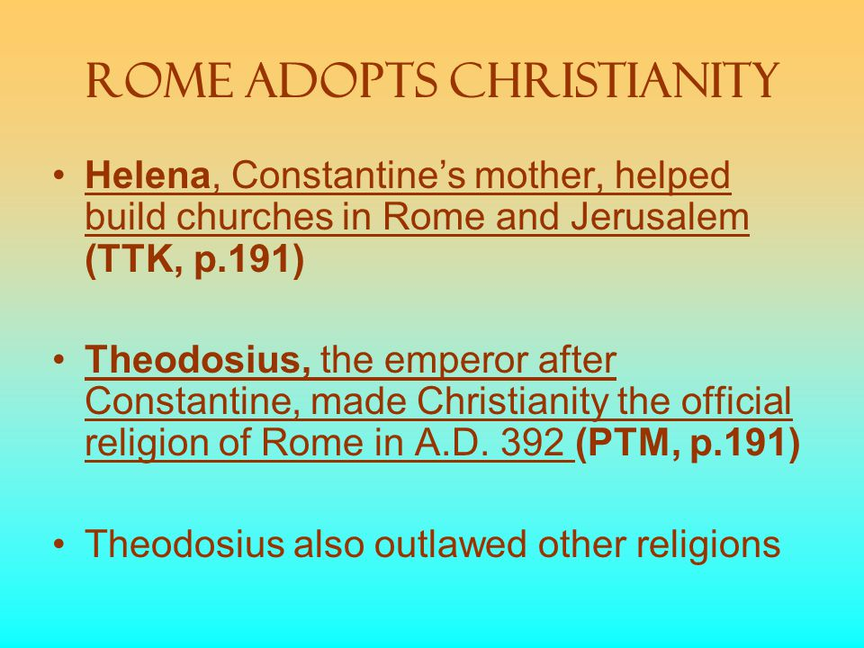 Rome Adopts Christianity