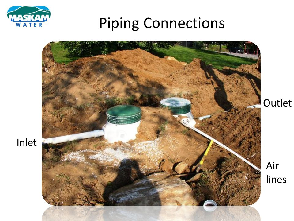 Piping Connections Outlet Inlet Air lines