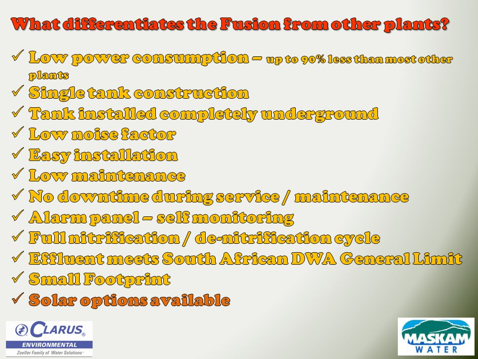 What differentiates the Fusion from other plants