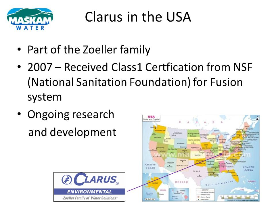 Clarus in the USA Part of the Zoeller family