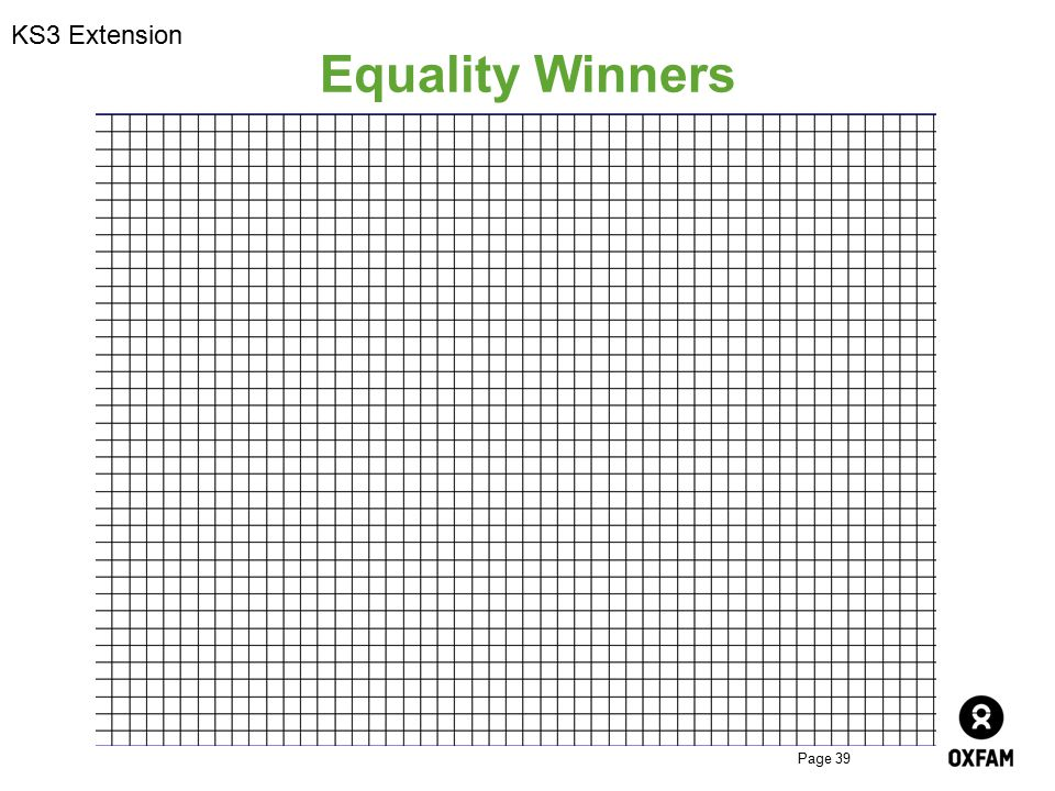 KS3 Extension Equality Winners
