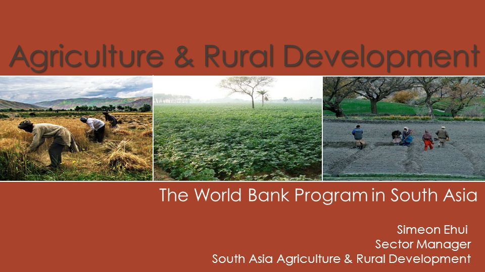 Agriculture & Rural Development