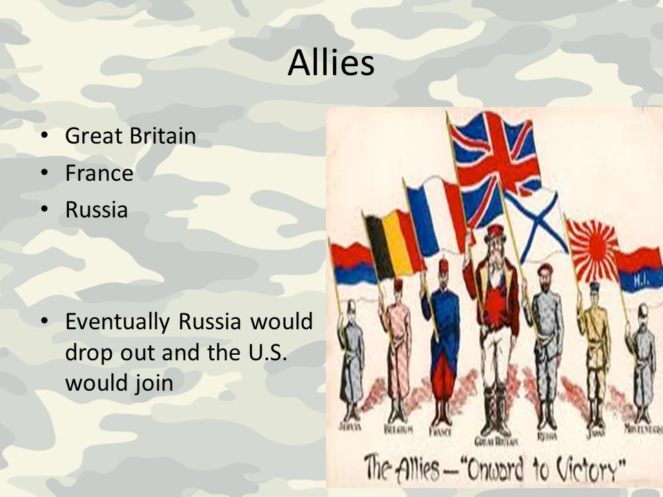 Allies Great Britain France Russia