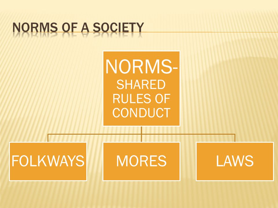 NORMS-SHARED RULES OF CONDUCT
