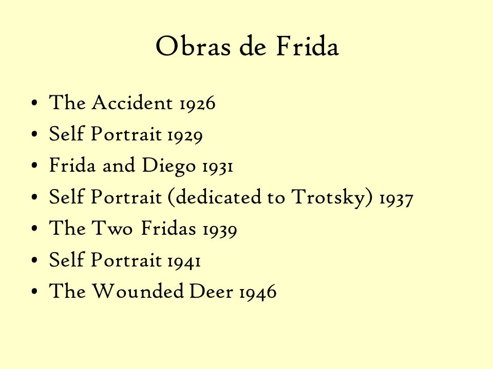 Obras de Frida The Accident 1926 Self Portrait 1929