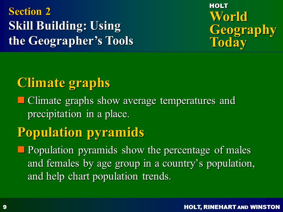 Climate graphs Population pyramids the Geographer's Tools