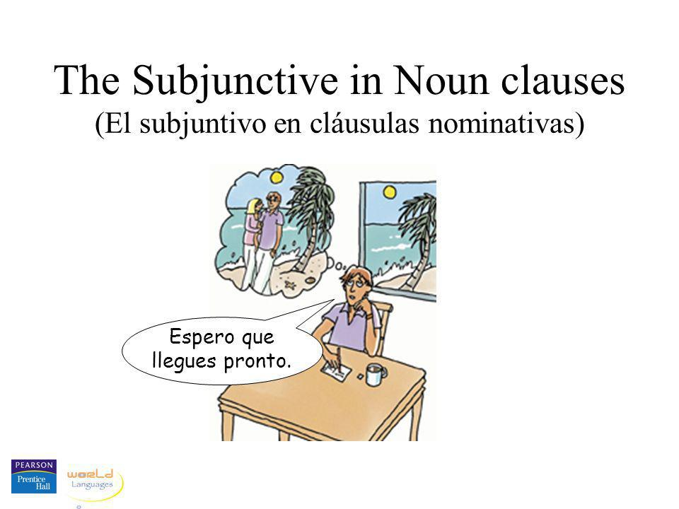 The Subjunctive in Noun clauses
