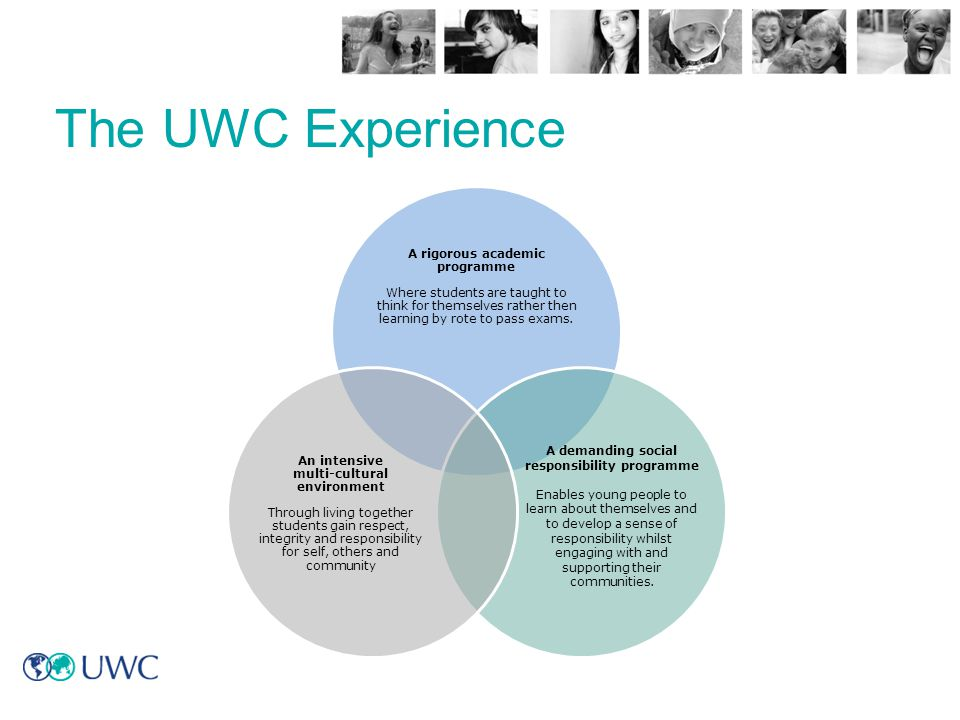 The UWC Experience This is our education model