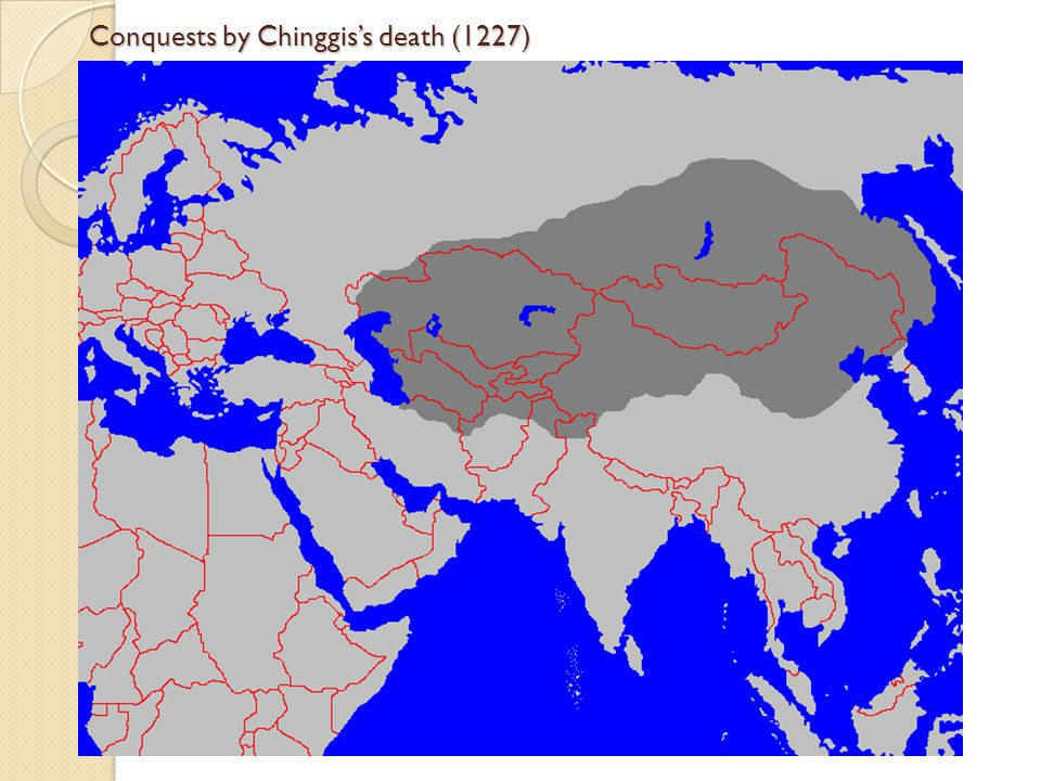 Conquests by Chinggis's death (1227)