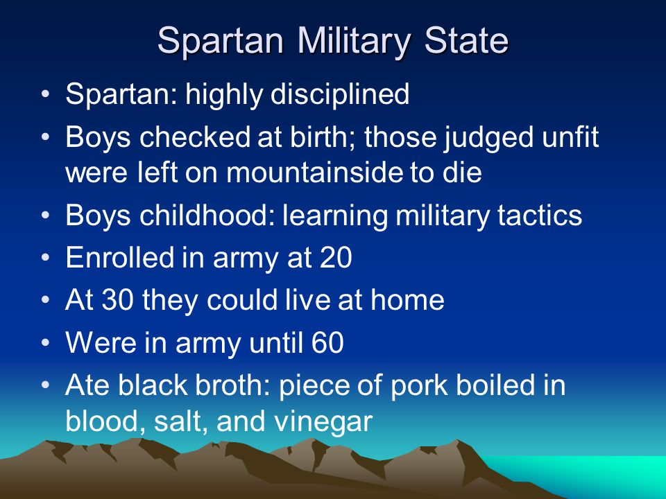 Spartan Military State