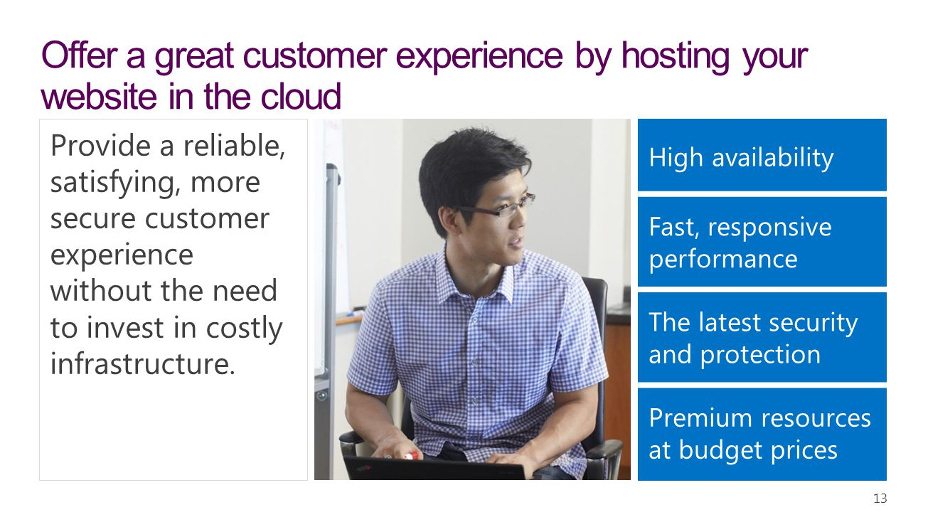 Offer a great customer experience by hosting your website in the cloud