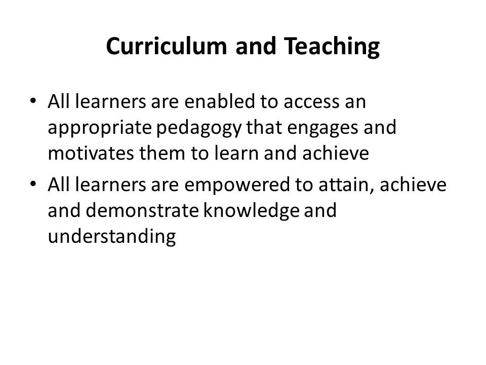 Curriculum and Teaching