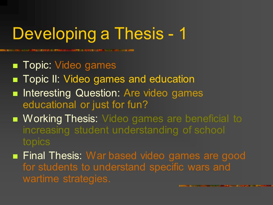 thesis video