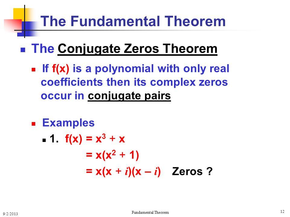 The Fundamental Theorem Of Algebra The Fundamental Theorem Of