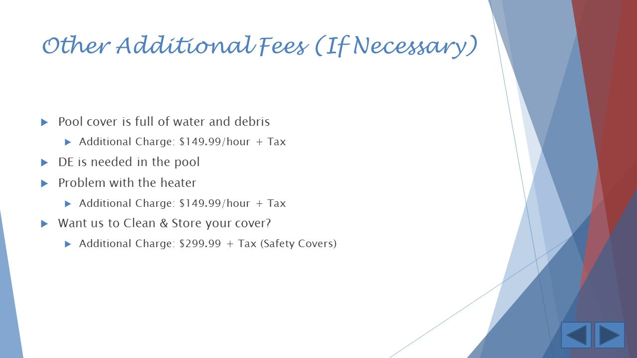 Other Additional Fees (If Necessary)