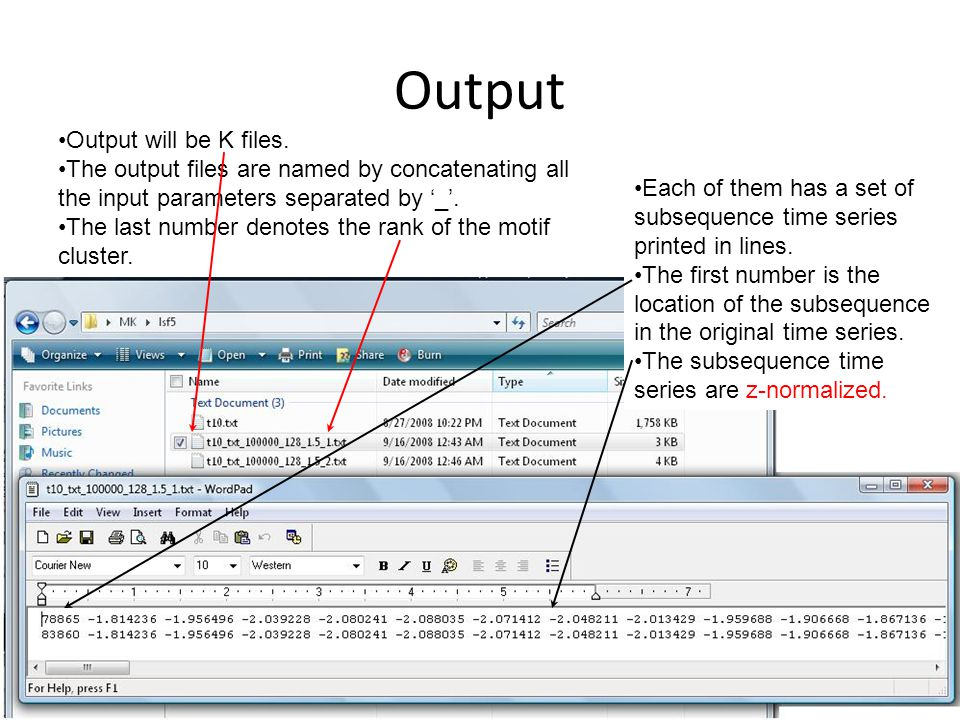 Output Output will be K files.