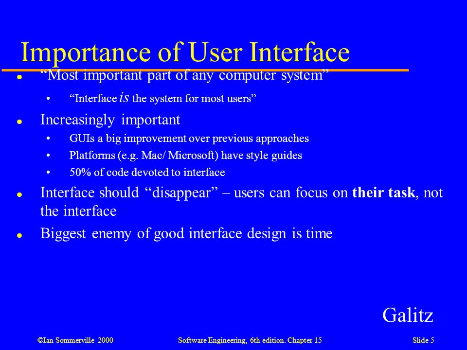User Interface Design Designing Effective Interfaces For Software Systems Ppt Download